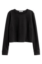 Cropped top - Black - Ladies | H&M CN 2